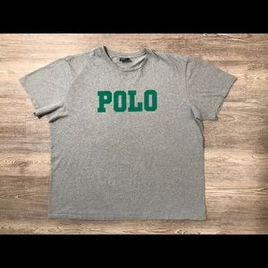 Vintage 90's Polo Block Letter Spell Out Tee